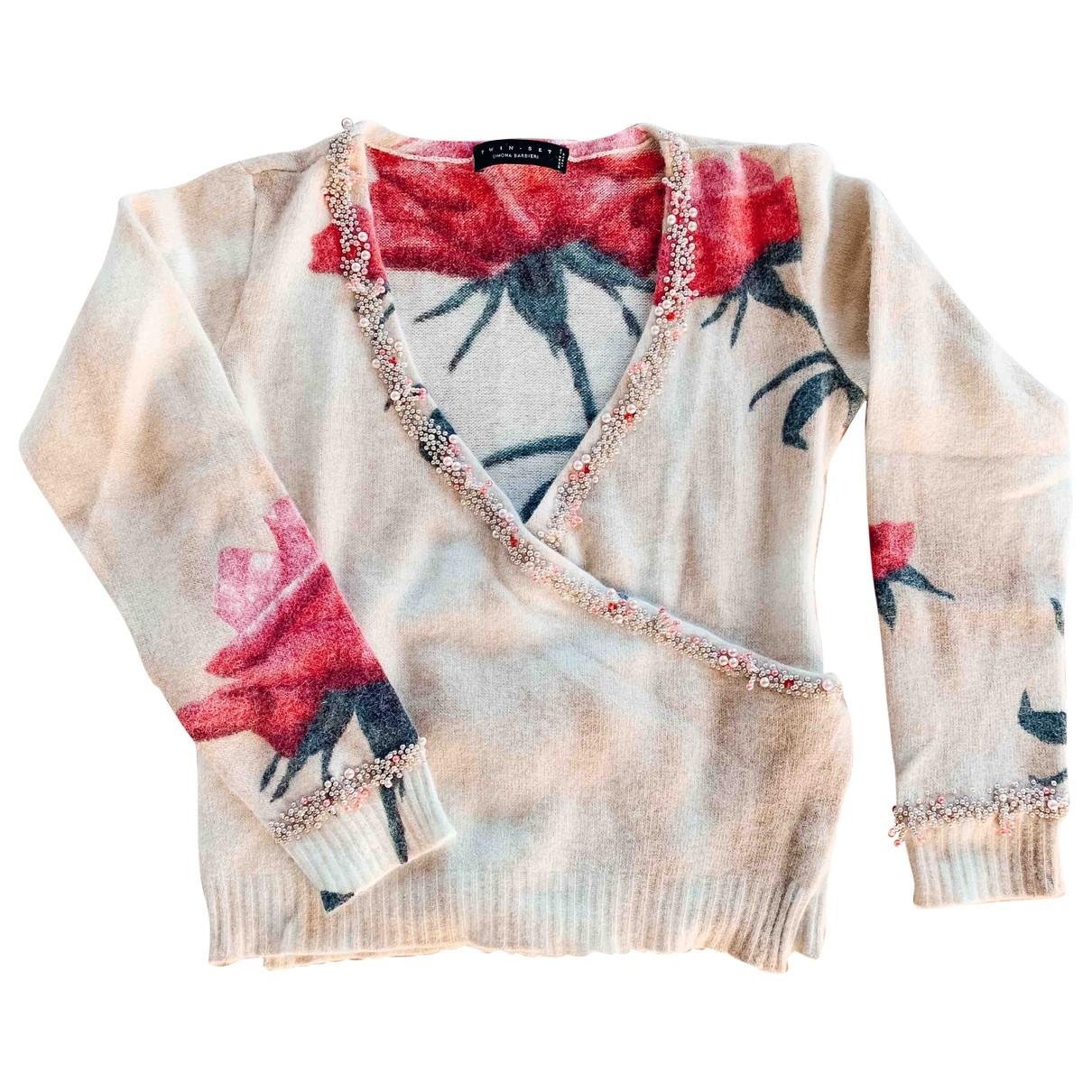 Twin Set - Pull   pour femme en laine - multicolore