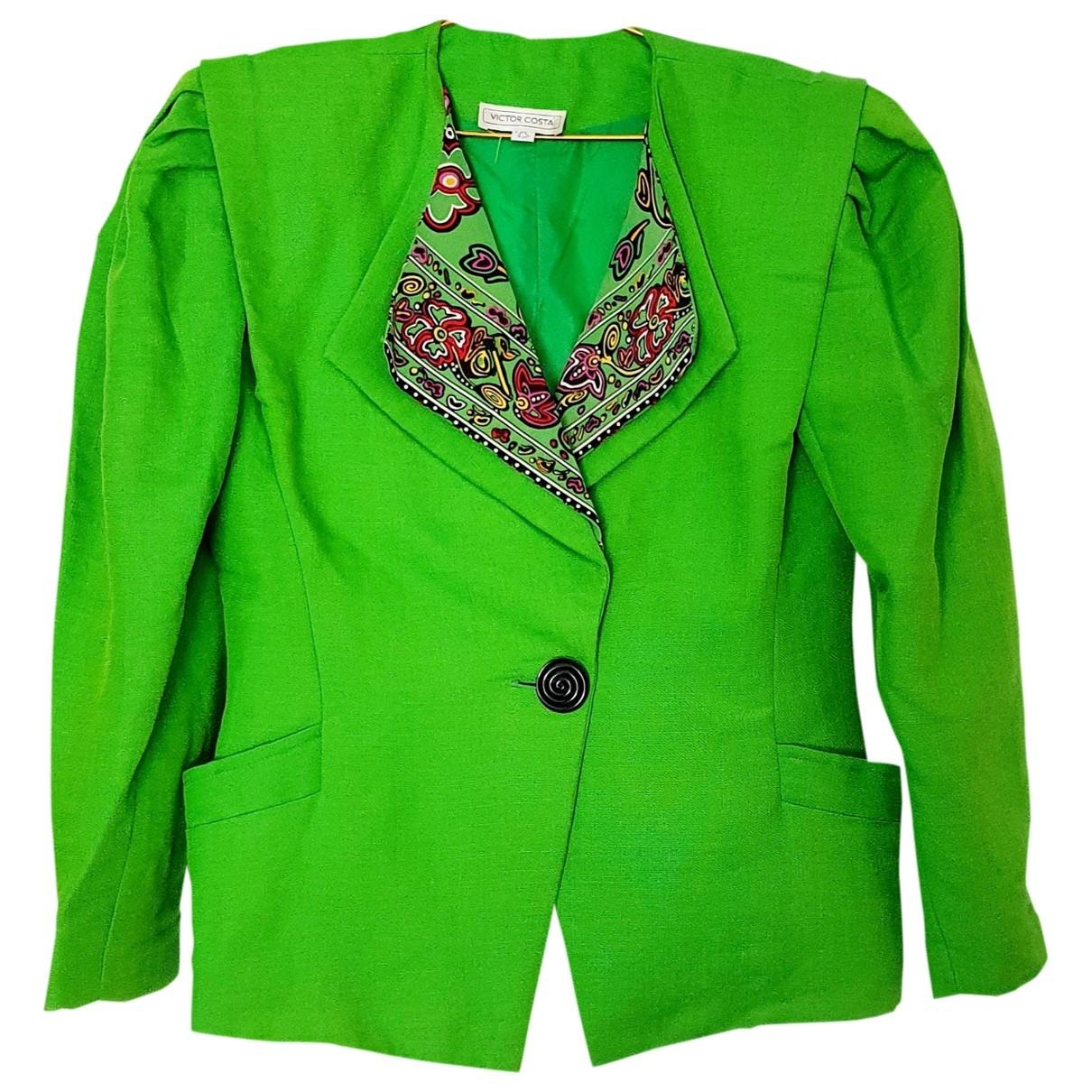 Chaqueta Oversize en Poliester Verde Non Signe / Unsigned