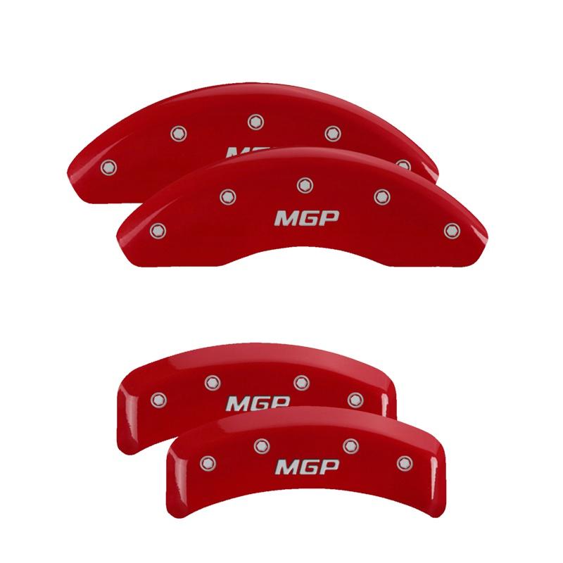 MGP Caliper Covers 38007SMGPRD Set of 4: Red finish, Silver MGP / MGP Lexus