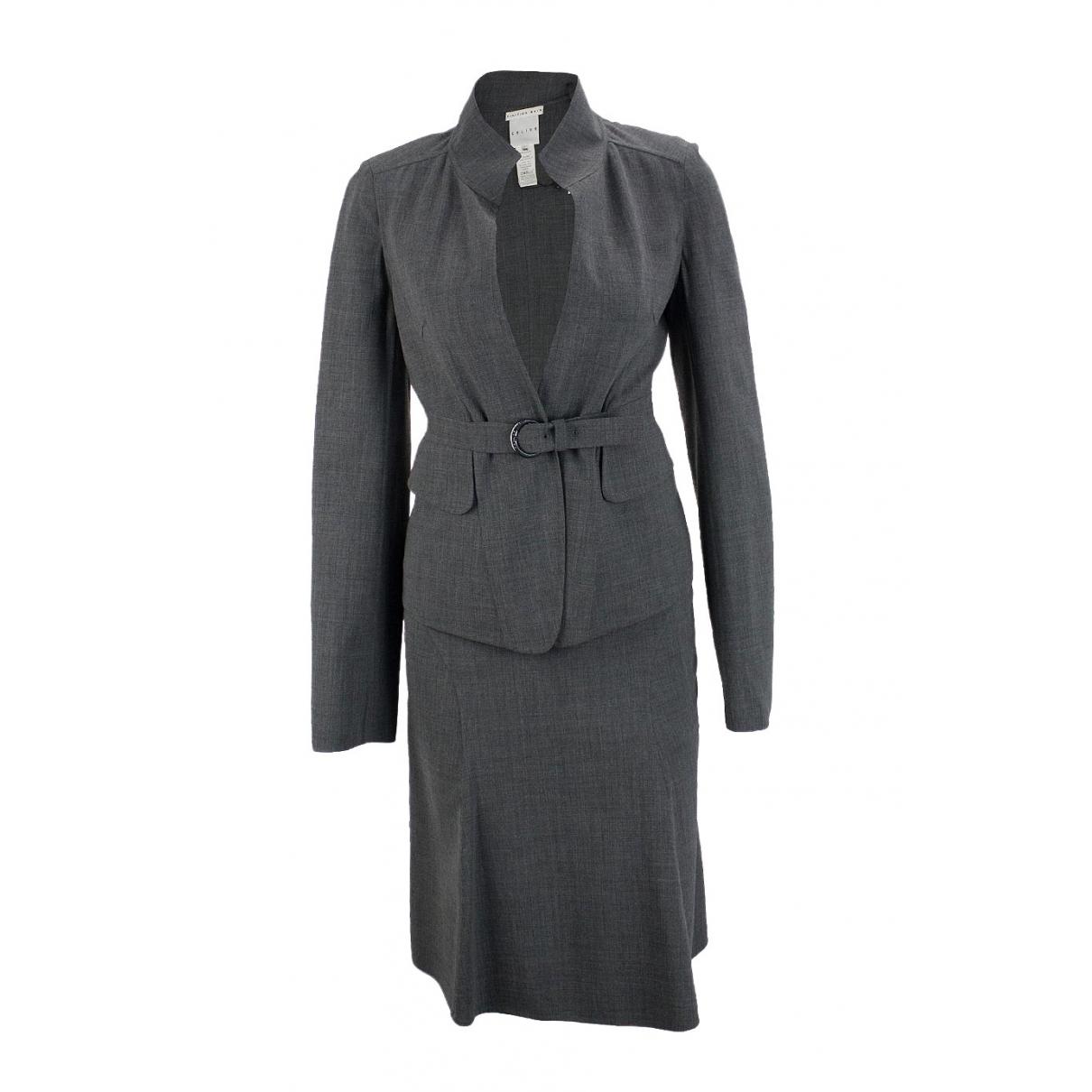 Celine \N Grey Wool skirt for Women 34 FR