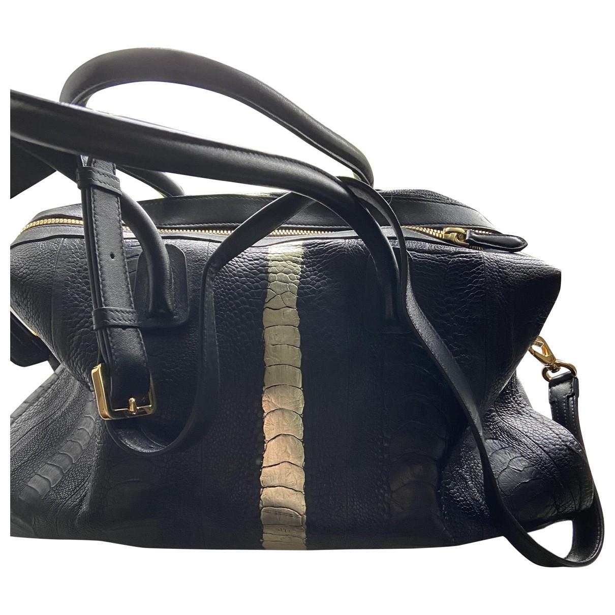 Maiyet \N Black Ostrich handbag for Women \N