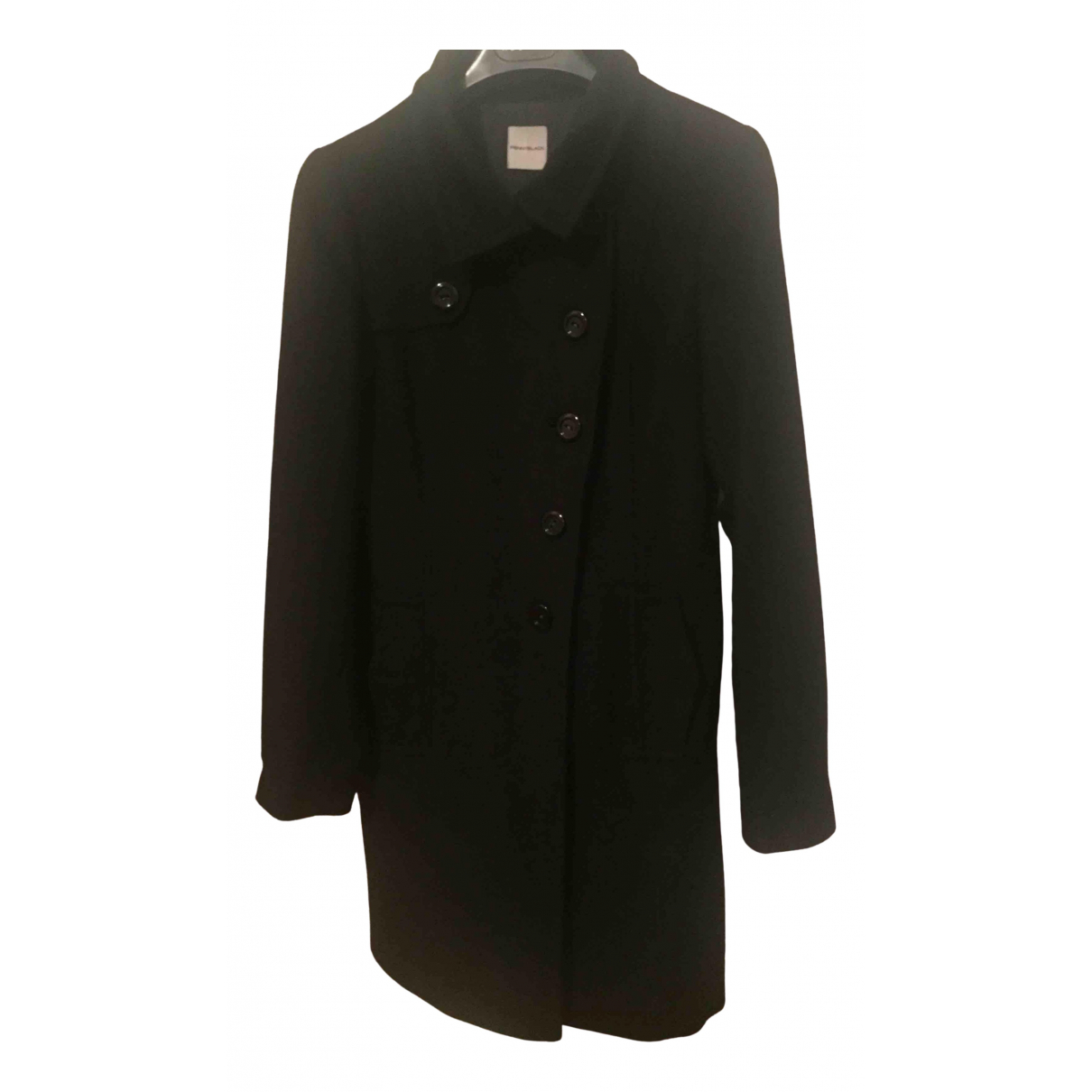 Non Signé / Unsigned \N Black Wool coat for Women 40 IT