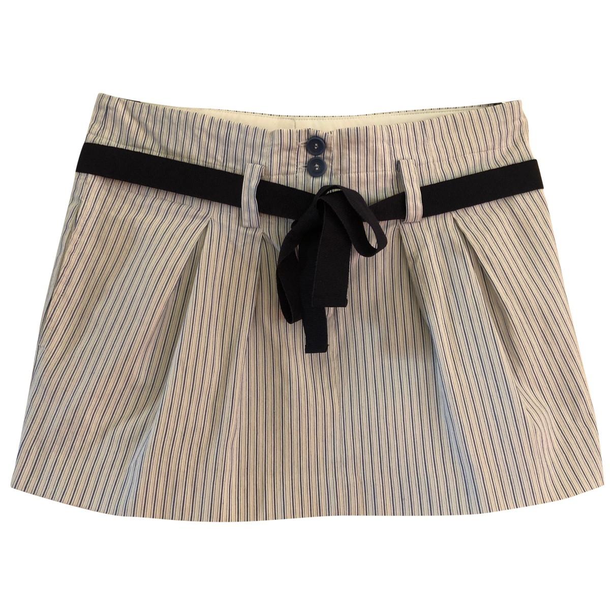 Mara & Mine - Jupe   pour femme en coton - blanc