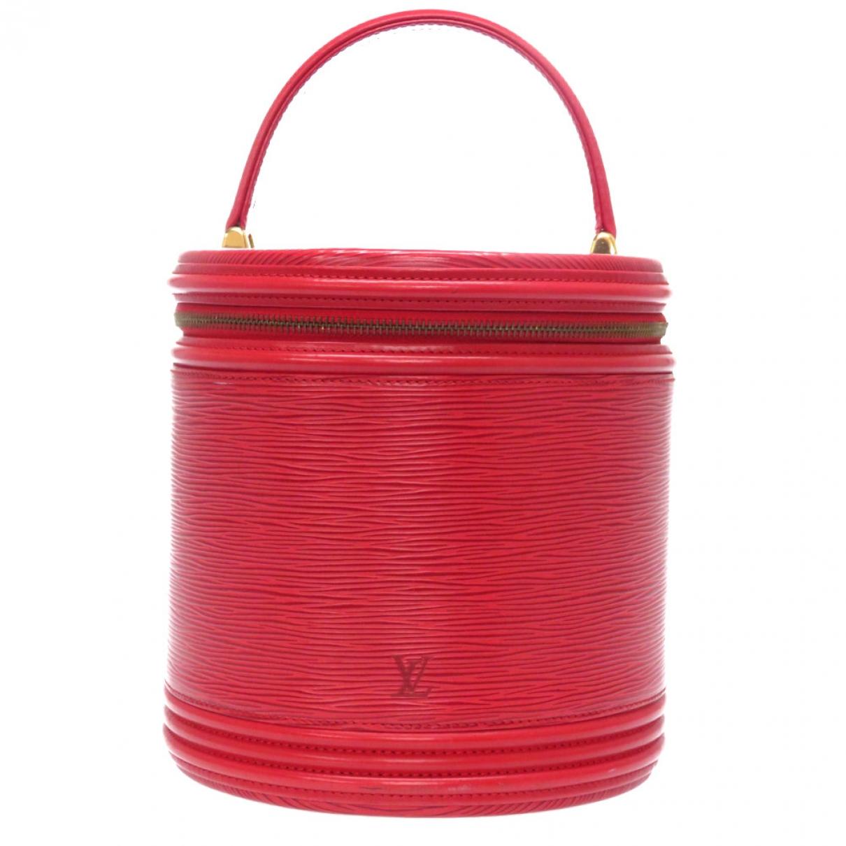 Louis Vuitton Cannes Handtasche in  Rot Leder