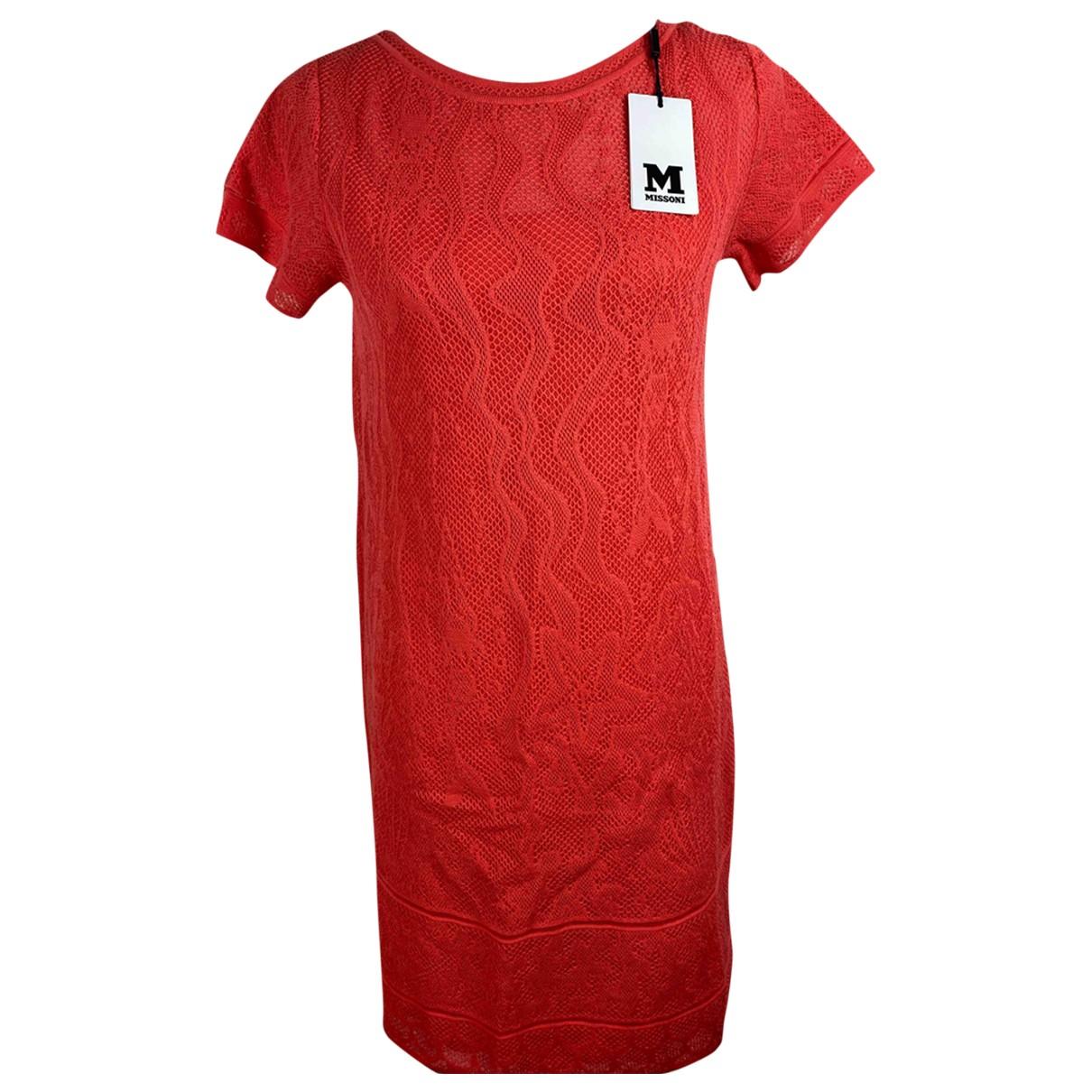 Missoni \N Kleid in  Orange Spitze