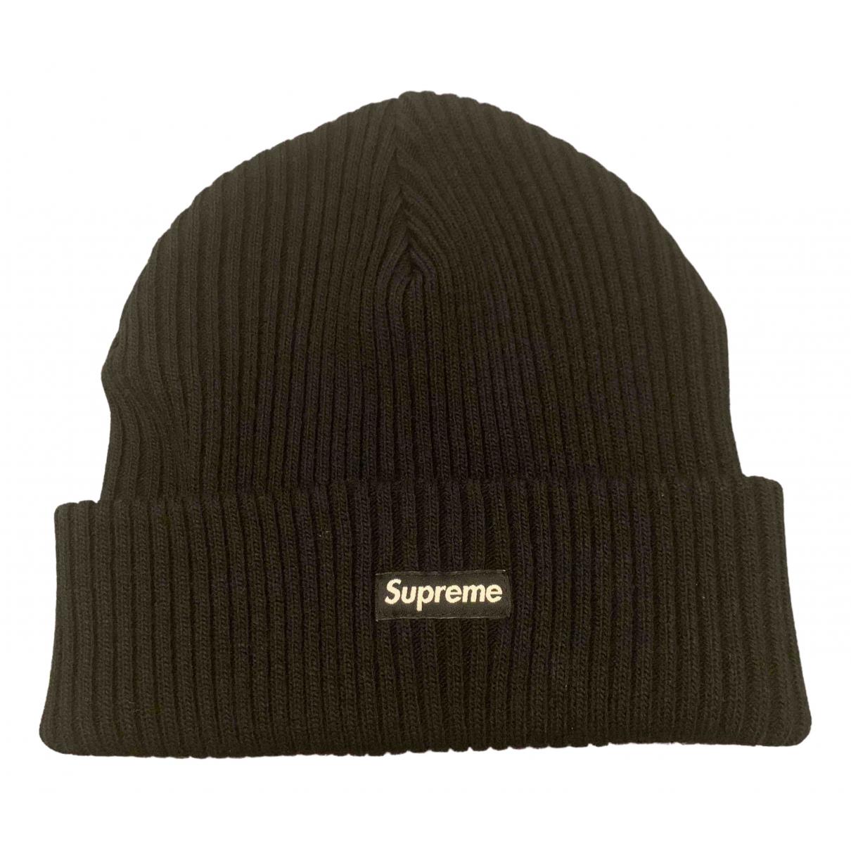 Supreme \N Hut, Muetzen in  Schwarz Wolle