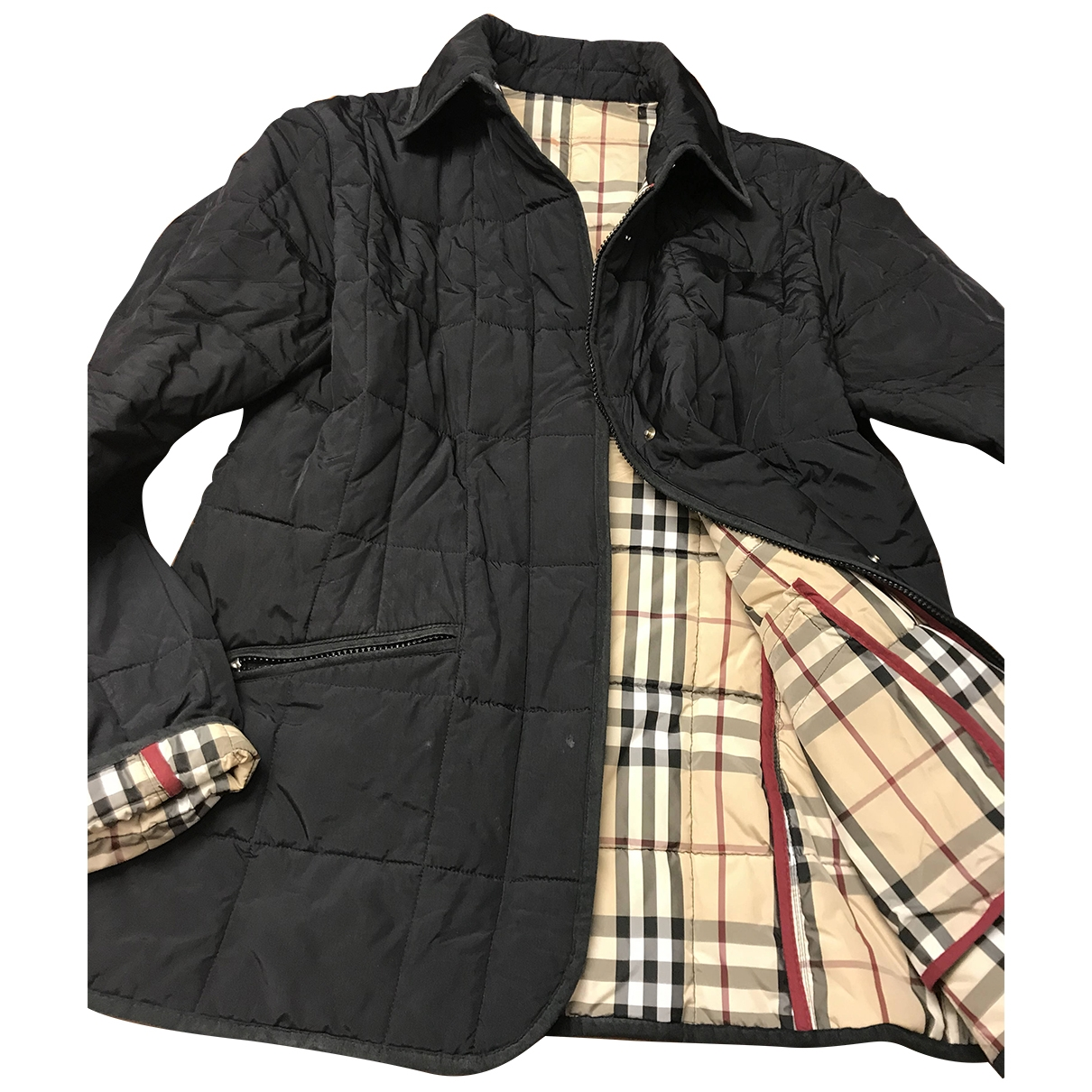Burberry - Manteau   pour femme - noir