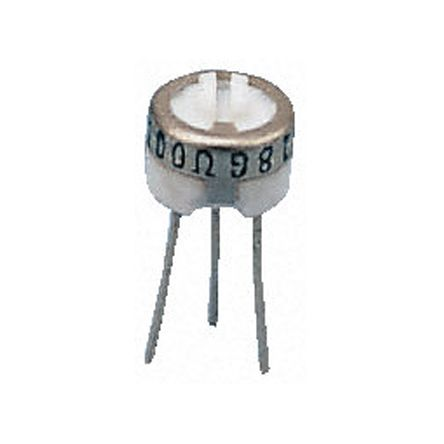 Bourns 3329P Series Through Hole Trimmer Resistor with Pin Terminations, 5kΩ ±10% 1/2W ±100ppm/°C Top Adjust