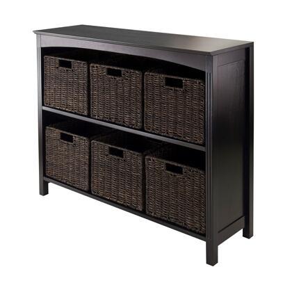 92783 7pc Storage 3-Tier Shelf with 6 Small Baskets in Espresso