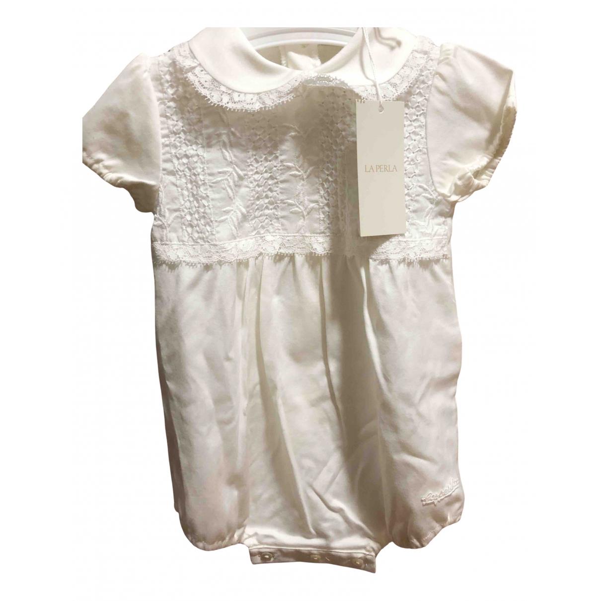 La Perla - Robe    pour enfant en lin - blanc