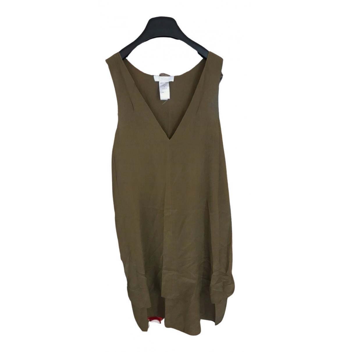 Chloé \N Khaki Silk  top for Women 38 FR