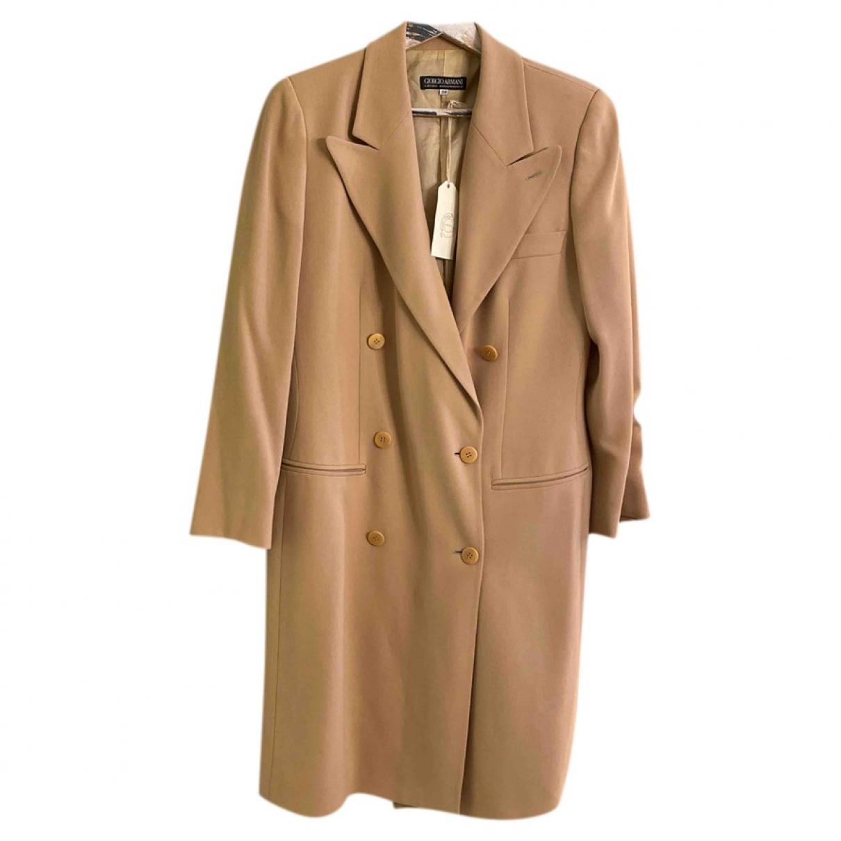 Giorgio Armani - Manteau   pour femme en laine - beige