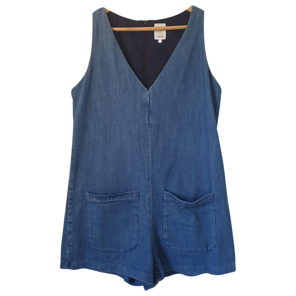 Zara - Robe   pour femme en denim - turquoise