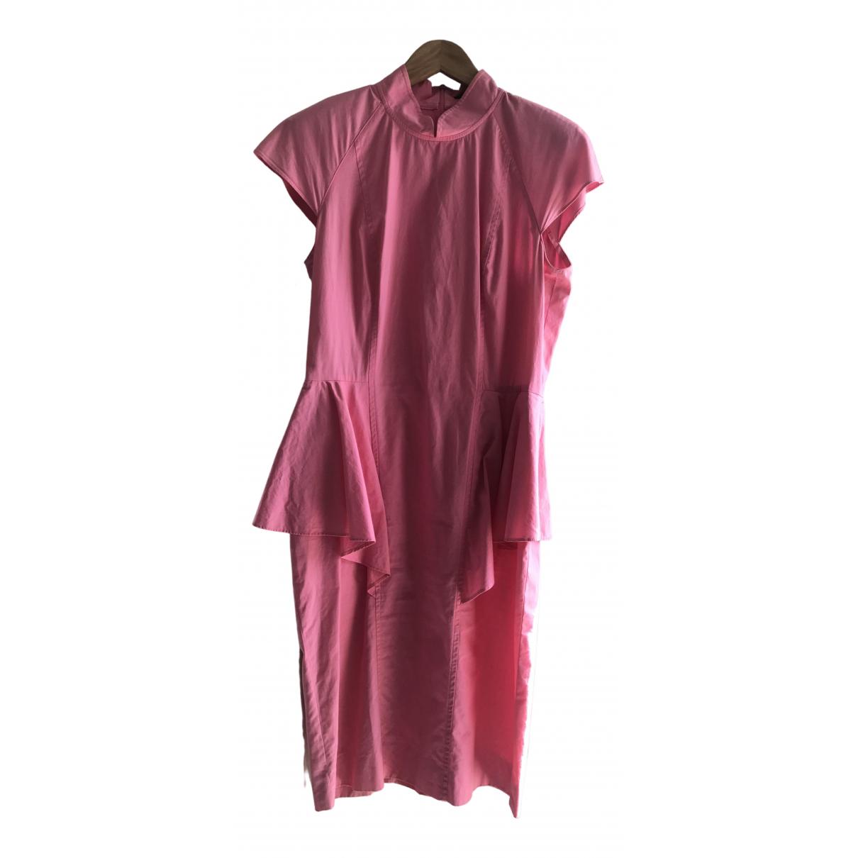 Guy Laroche \N Kleid in  Rosa Baumwolle