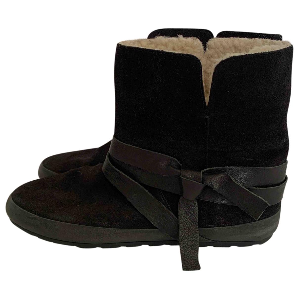 Isabel Marant Etoile - Boots   pour femme en mouton - noir
