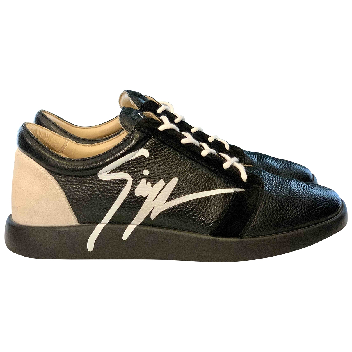 Giuseppe Zanotti \N Black Leather Trainers for Men 42 EU