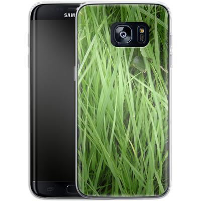 Samsung Galaxy S7 Edge Silikon Handyhuelle - Grass von caseable Designs