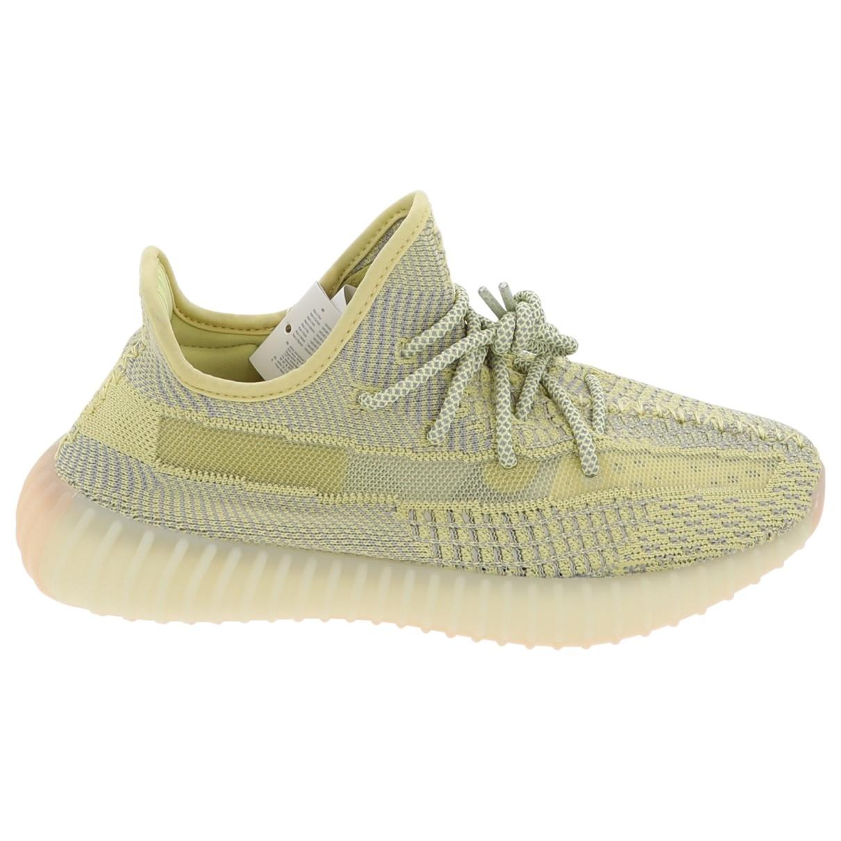 Yeezy X Adidas - Baskets Boost 350 V2 pour femme en toile - jaune
