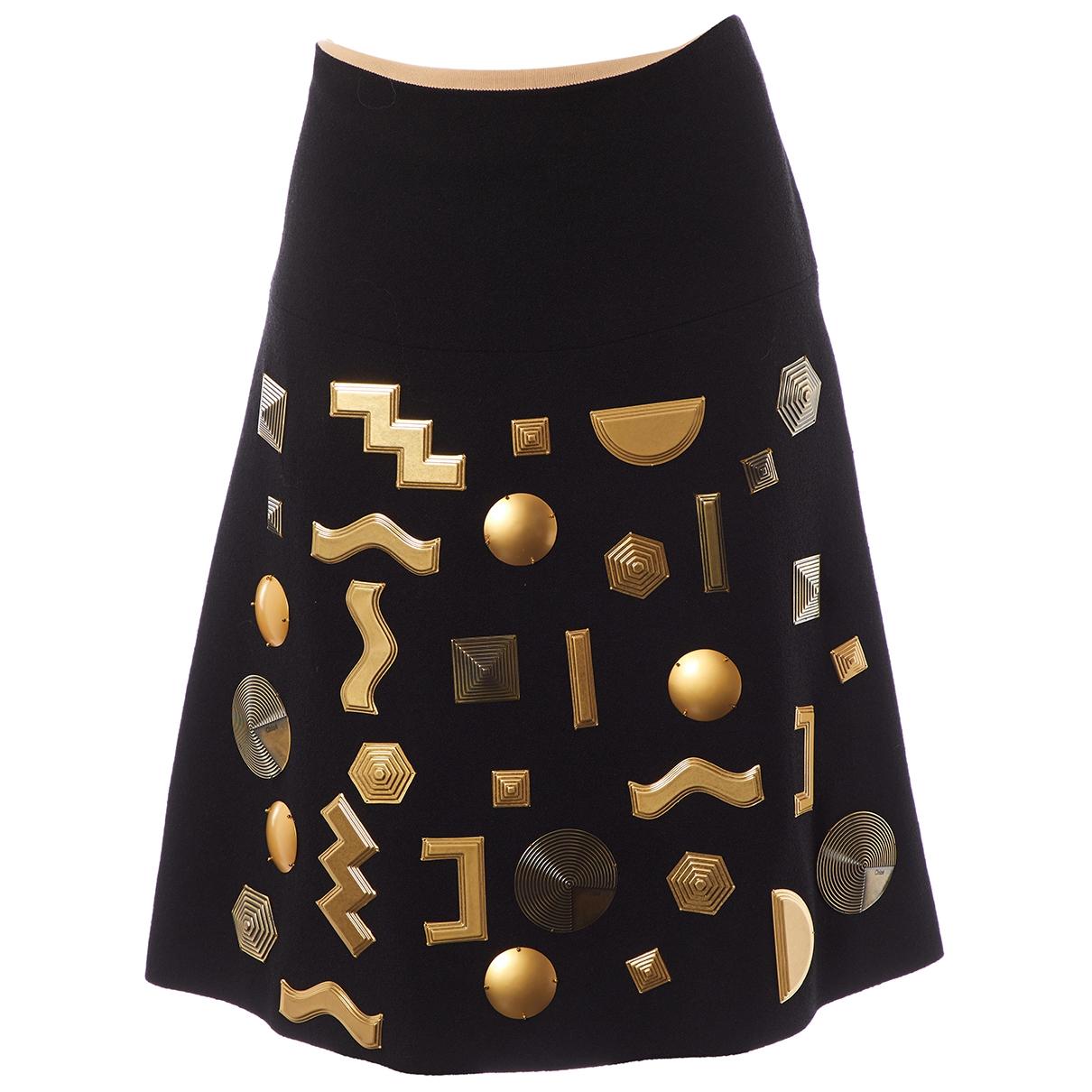 Chloé \N Black Wool skirt for Women 38 FR