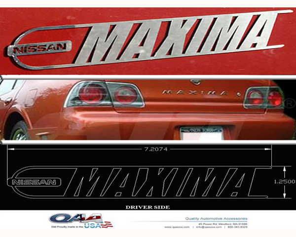 Quality Automotive Accessories Stainless Steel Graphic Logo   Emblem Nissan Maxima 2007