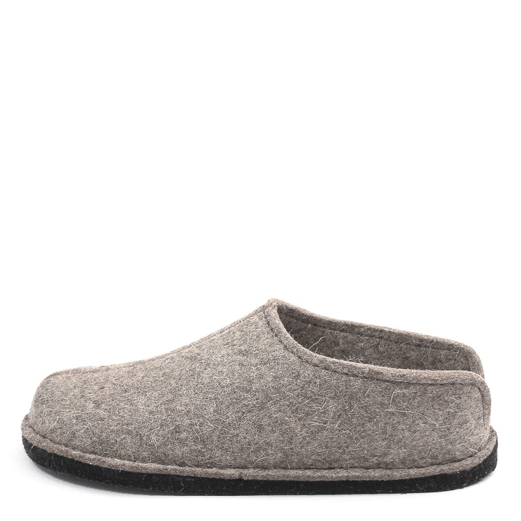 Haflinger, Flair Smily Unisex Hausschuh, taupe Grosse 44