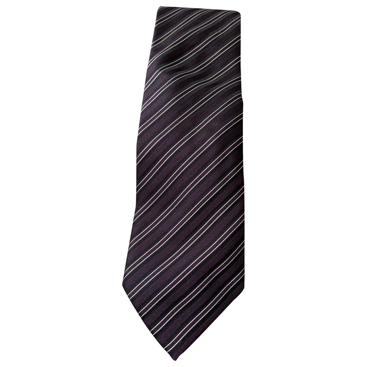 Hugo Boss \N Krawatten in  Lila Seide