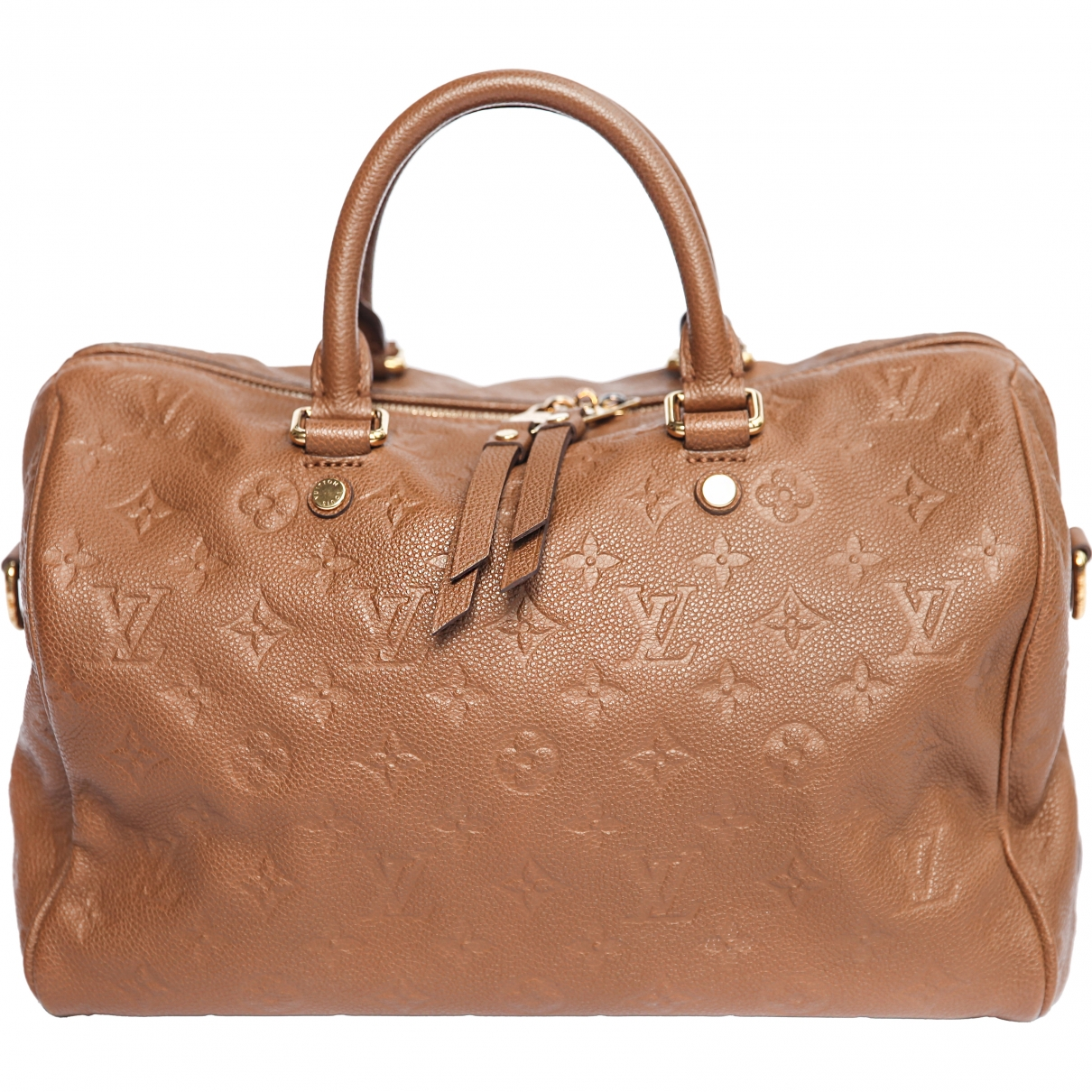 Louis Vuitton - Sac a main Speedy pour femme en cuir - marron
