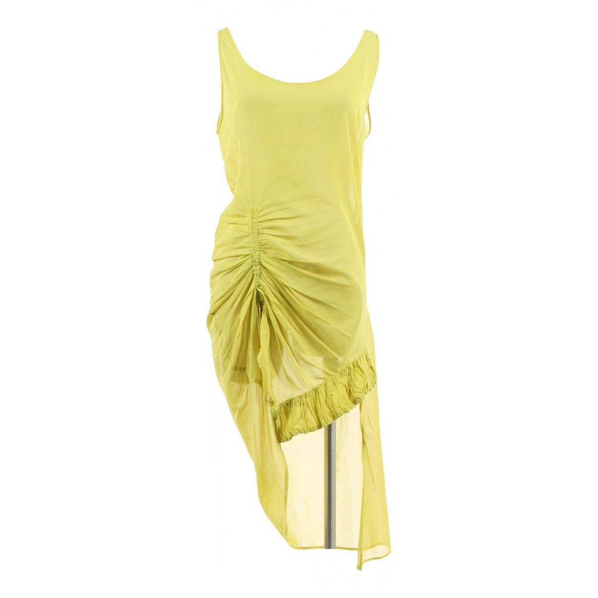 Dries Van Noten - Top   pour femme en coton - jaune
