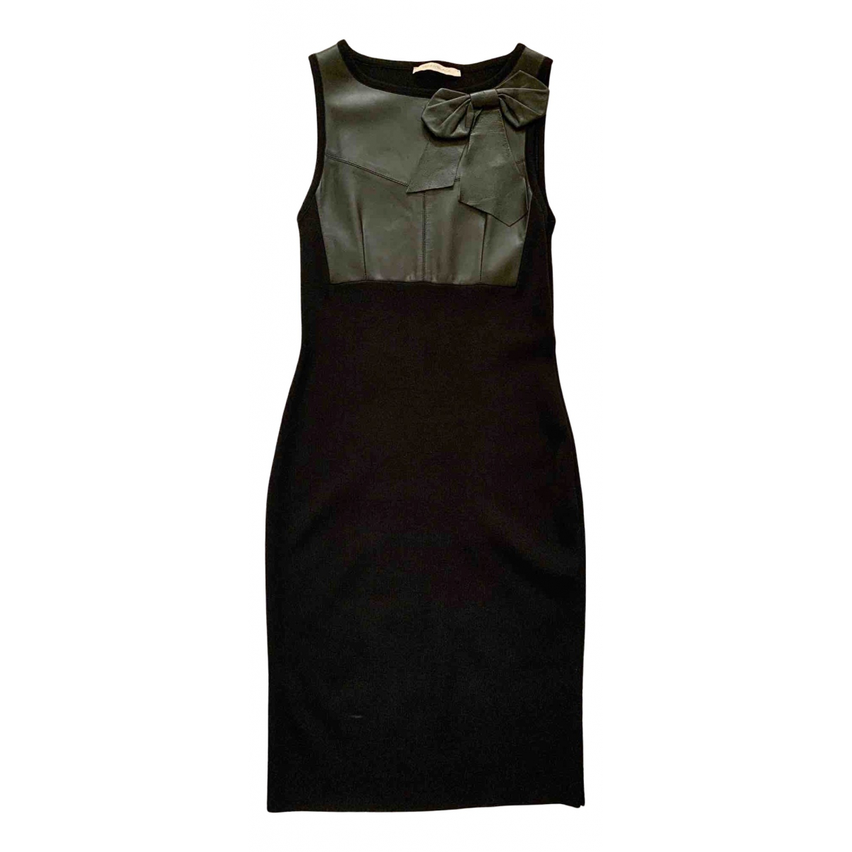 Non Signe / Unsigned \N Kleid in  Schwarz Leder