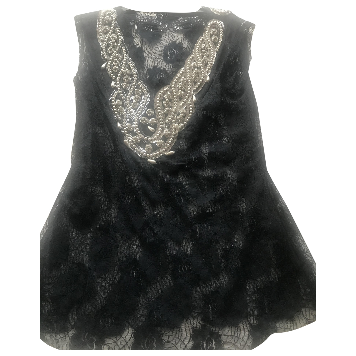 French Connection \N Navy Lace  top for Women 8 UK