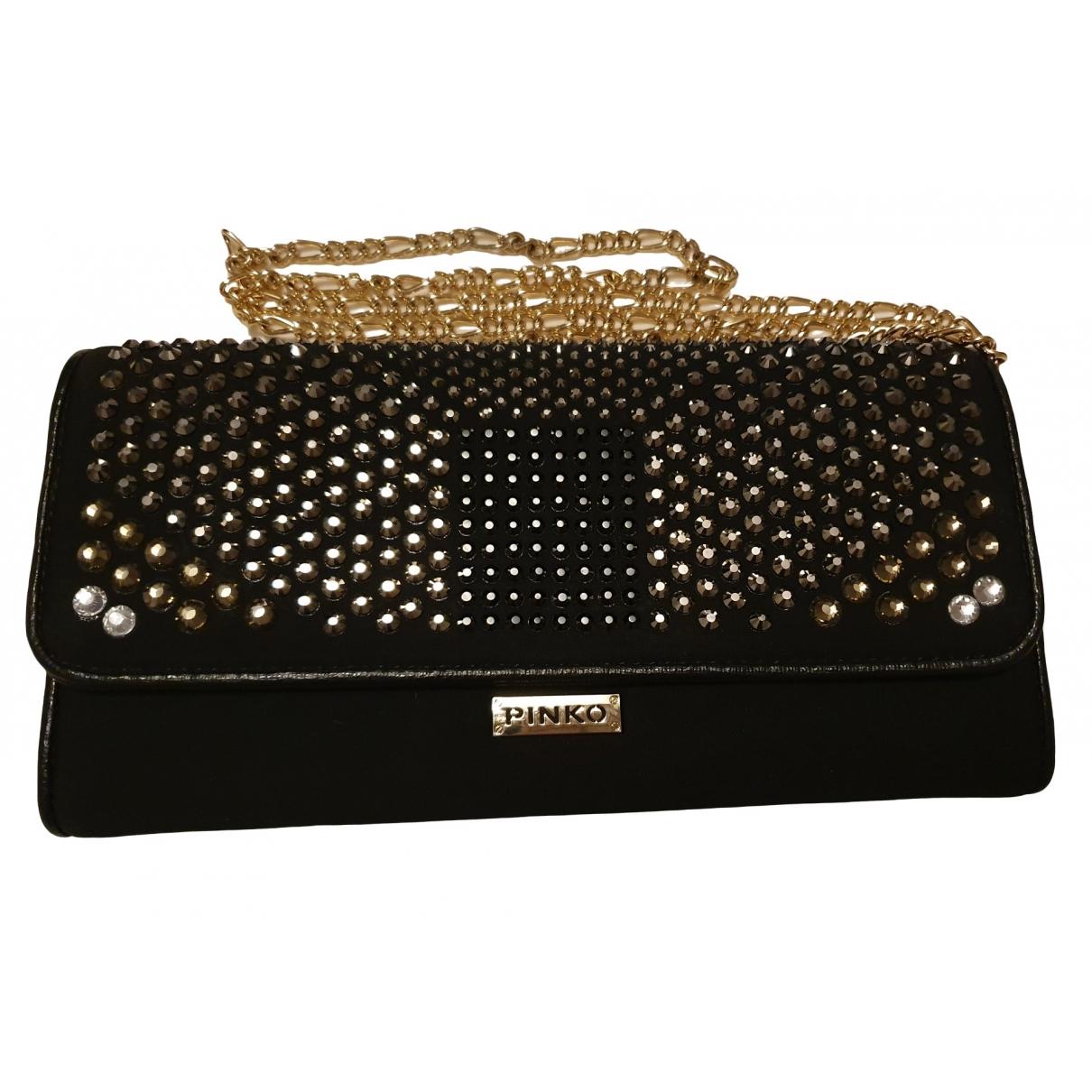 Pinko \N Black Glitter Clutch bag for Women \N