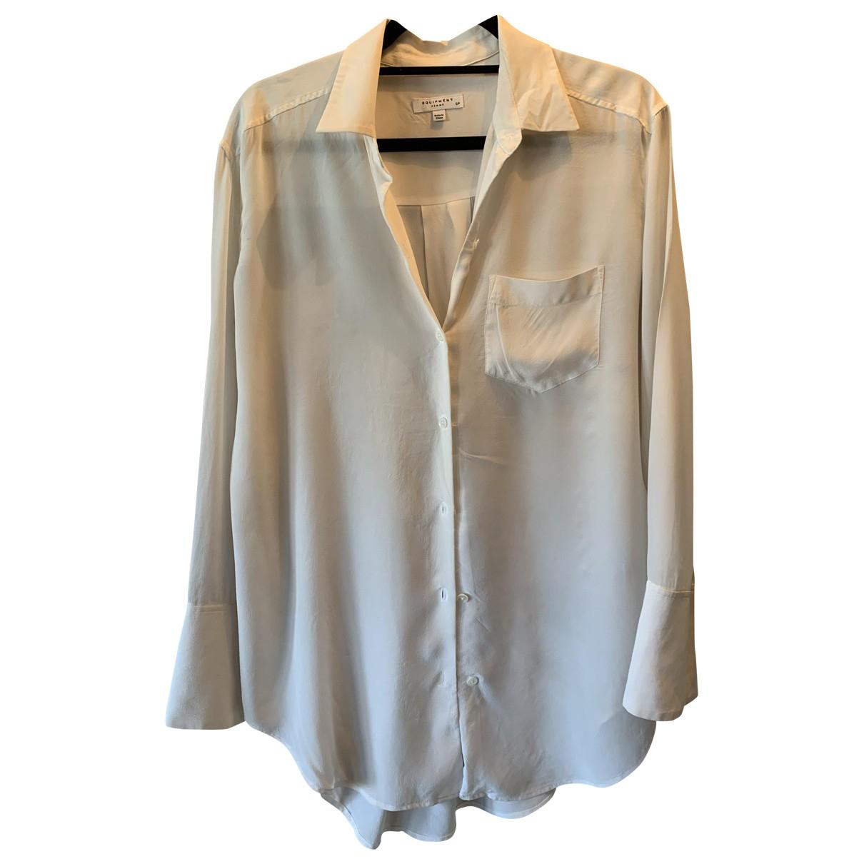 Equipment \N White Silk  top for Women S International