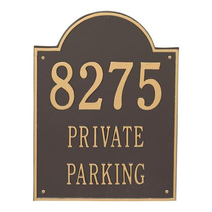 2502OG Extra Large Arch Plaque - Holds up to 3 Lines of Text in Bronze and Gold