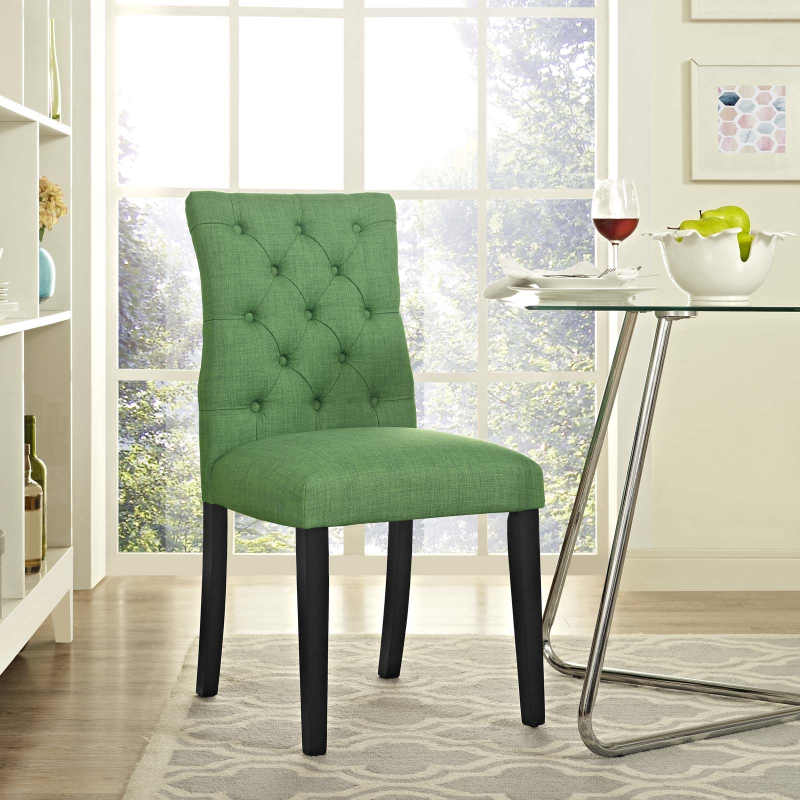 Duchess Fabric Dining Chair in Kelly Green