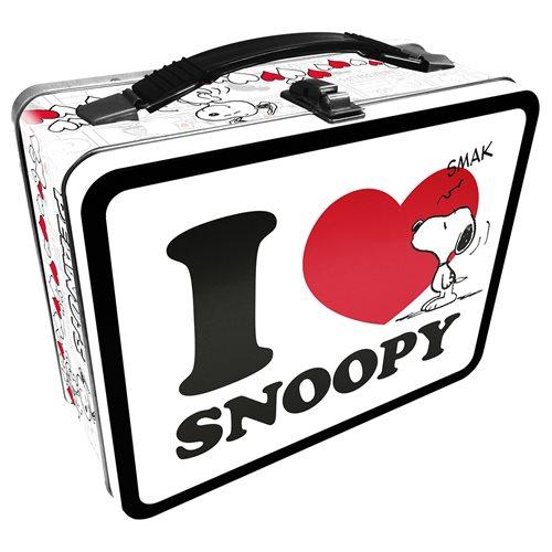 Peanuts I Heart Snoopy Gen 2 Fun Box Tin Tote