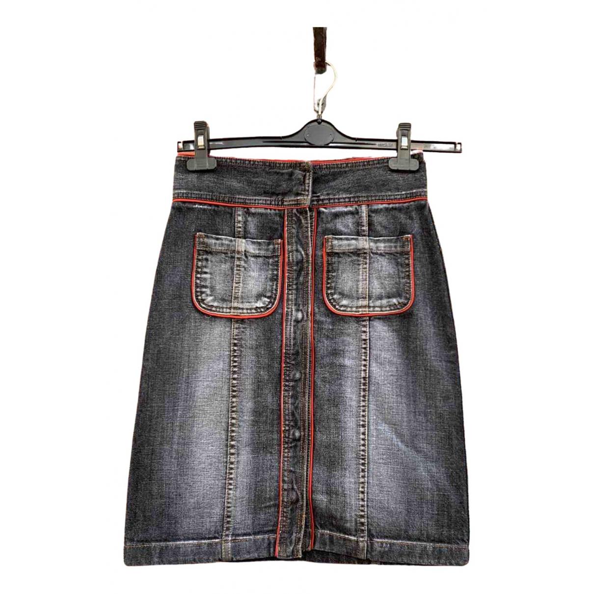 Dkny \N Blue Cotton skirt for Women 36 FR