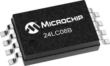 Microchip 24LC08BT-I/SN, 8kbit EEPROM Memory Chip 8-Pin SOIC (3300)