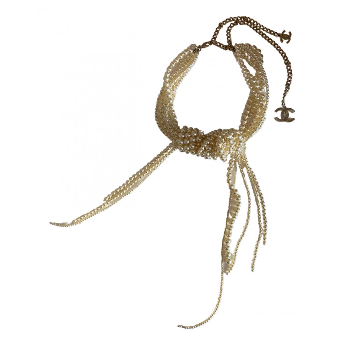 Chanel - Collier CC pour femme en perles - vert