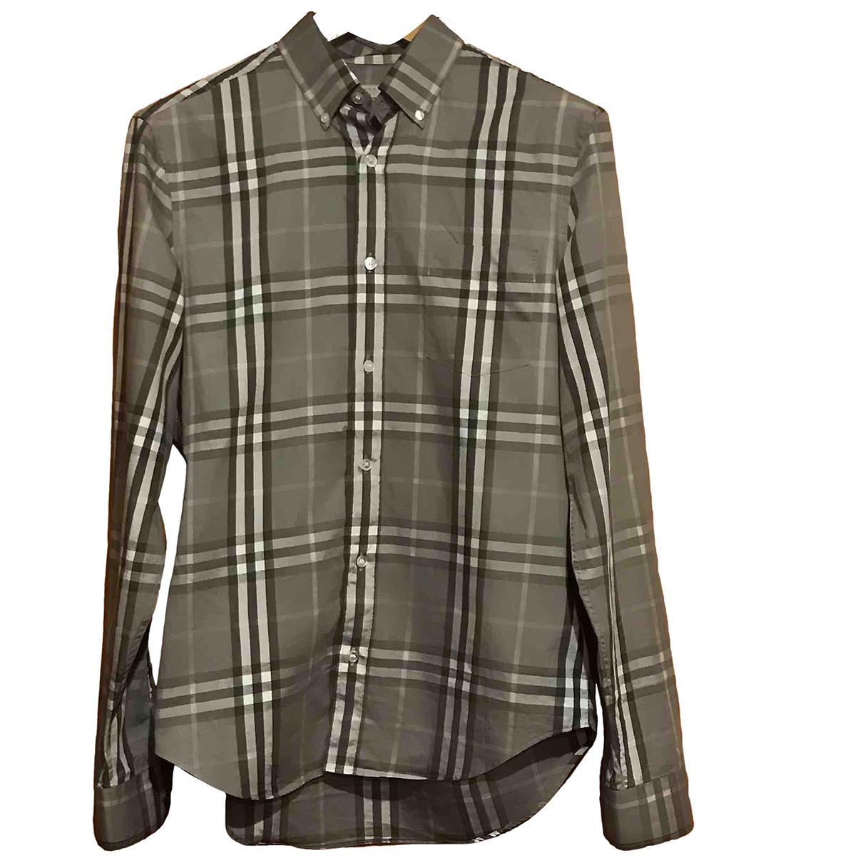 Burberry \N Grey Cotton Shirts for Men M International