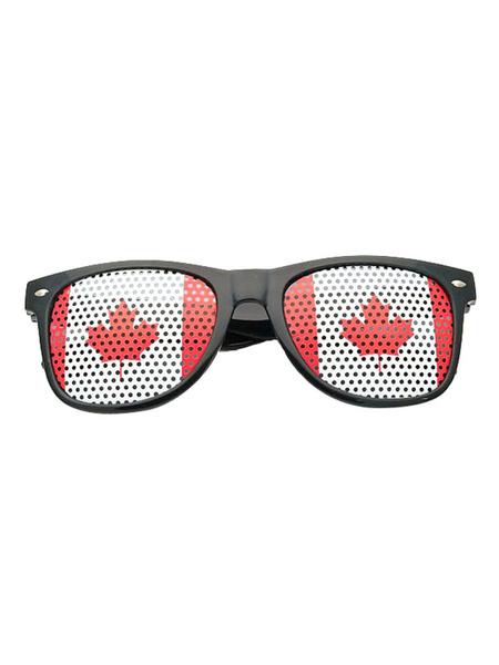 Milanoo Canada Flag Shutter Shades Zentai Suit Sunglasses