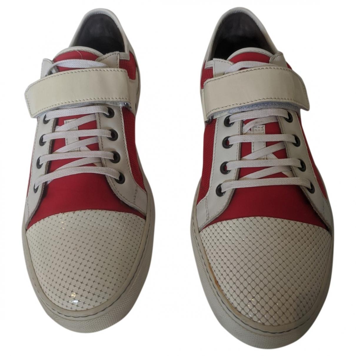 Lanvin - Baskets   pour homme en cuir verni - rouge