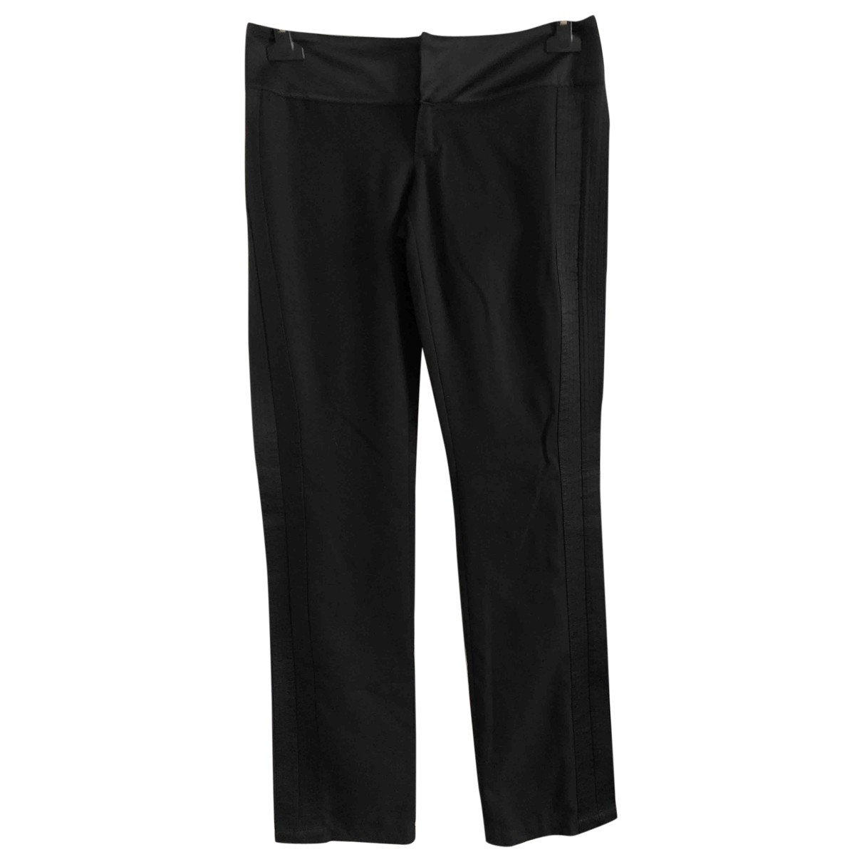 Versace Jeans \N Black Cotton Trousers for Women 40 IT