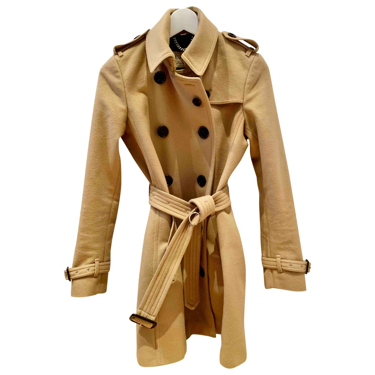 Burberry \N Trench in  Beige Wolle
