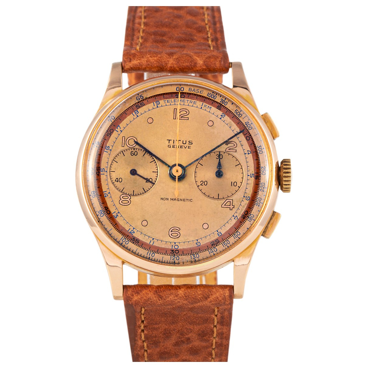 Non Signé / Unsigned \N Ecru Yellow gold watch for Men \N