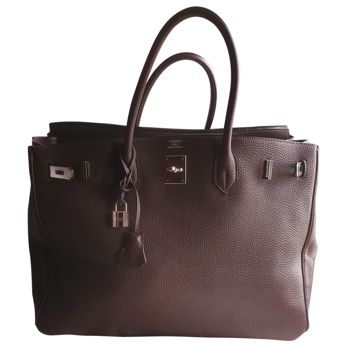 Hermès Birkin 40 Brown Leather handbag for Women \N