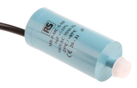 RS PRO 6μF Polypropylene Capacitor PP 440V ac ±10% Tolerance Screw Mount