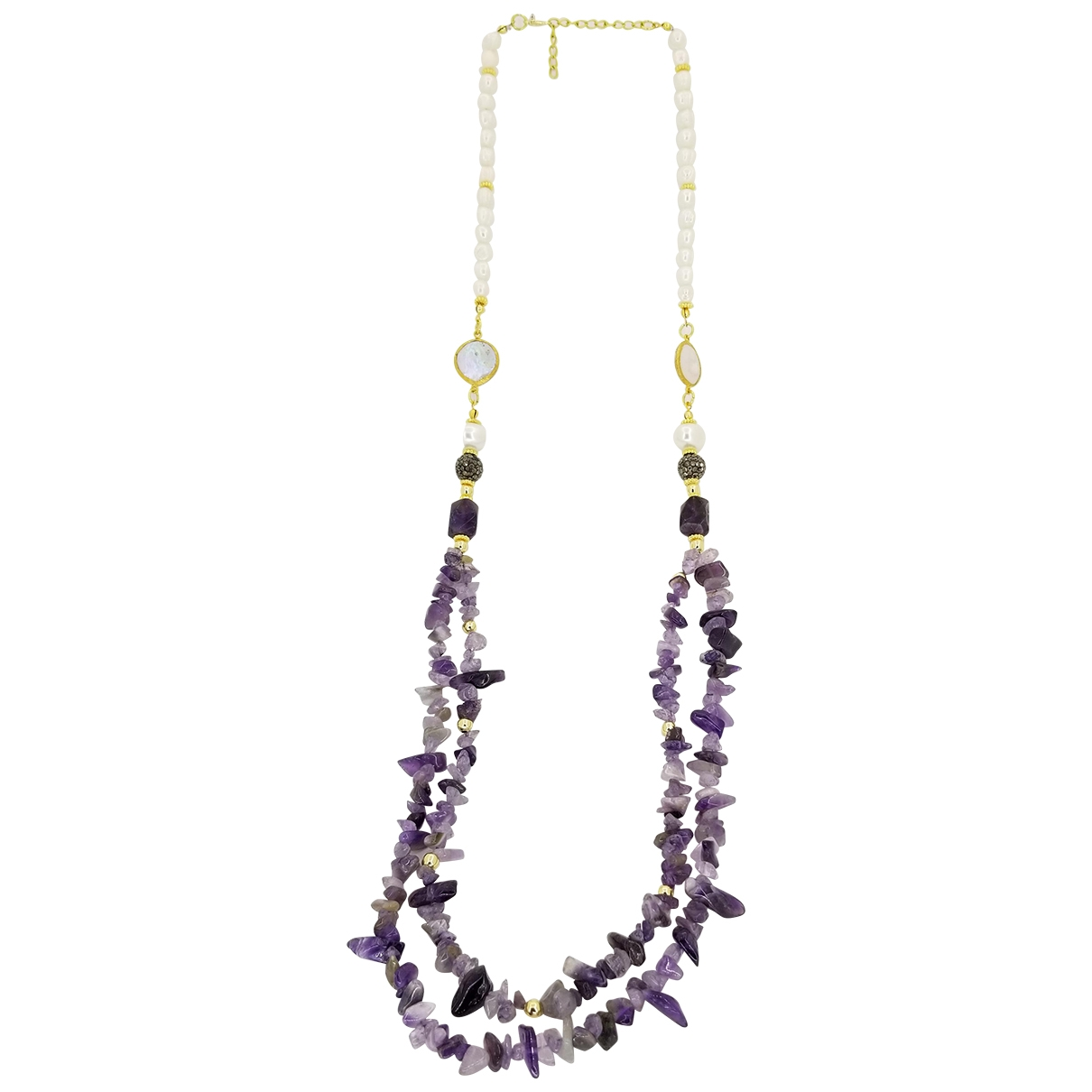 Non Signé / Unsigned Améthyste Pearls necklace for Women \N