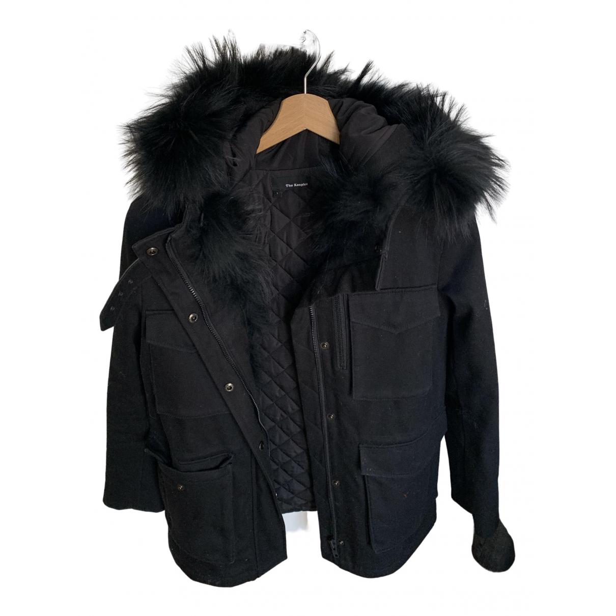The Kooples N Black Cotton coat for Women 34 FR