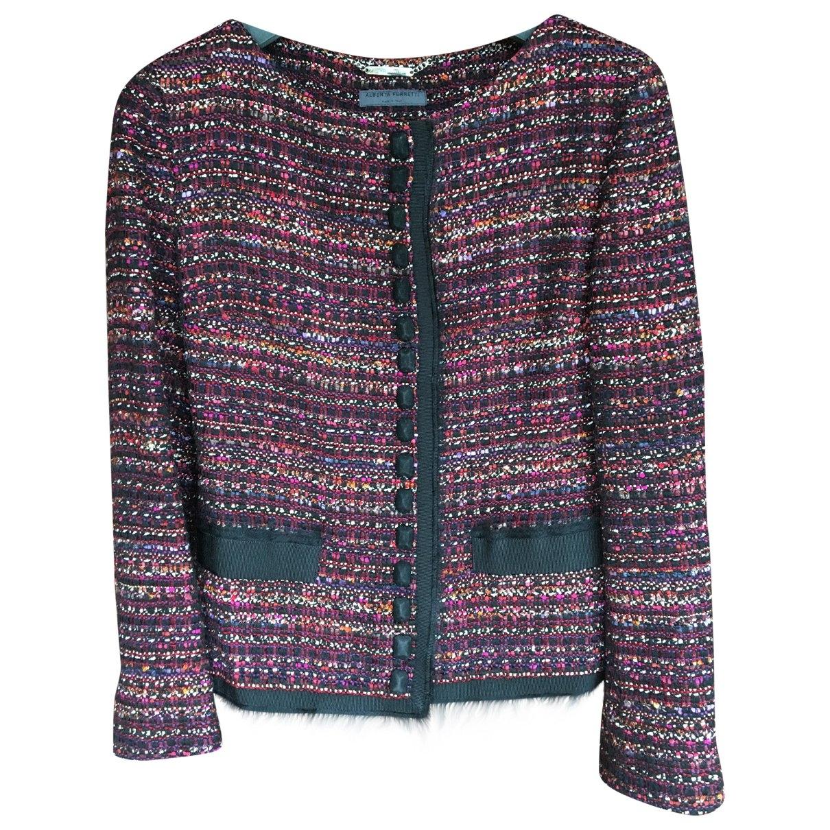 Alberta Ferretti \N Burgundy Tweed jacket for Women 40 IT