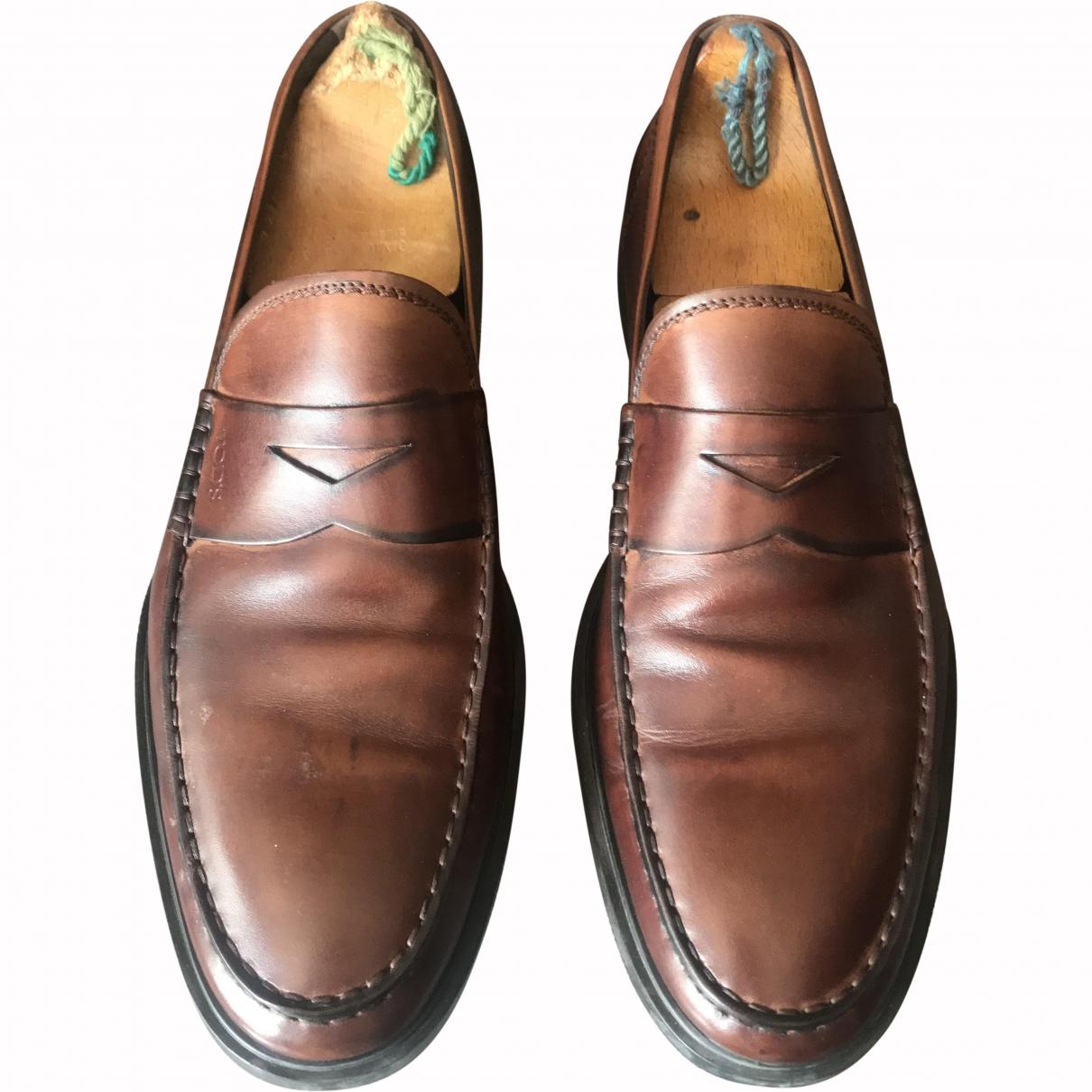 Tod's \N Camel Leather Flats for Men 10.5 UK